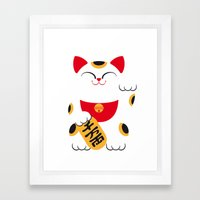 Japan Serie 4 - MANEKI NEKO Framed Art Print