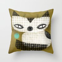SPOTTED SIAMESE Throw Pillow