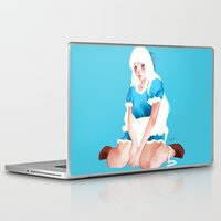 alice in wonderland Laptop & iPad Skins featuring Wonderland by Muzhur n' Leaevra
