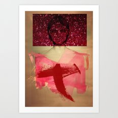 Girl behind the mirrors Art Print