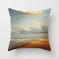 my dream beach Throw Pillow