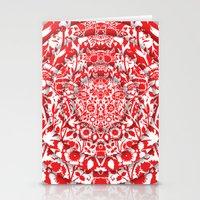 Illusionary Daisy (Red) Stationery Cards