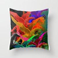 Galoppieren in der Farben Throw Pillow