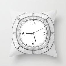 Clock Throw Pillow