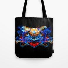 Red Beast Crowned in Blue Tote Bag
