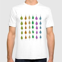 Candy Raindrops Mens Fitted Tee White SMALL