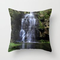 Swallet Falls Throw Pillow