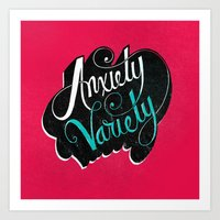 Anxiety Variety Art Print