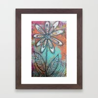 Doodle Flower Framed Art Print