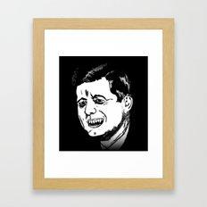 35. Zombie John F. Kennedy  Framed Art Print
