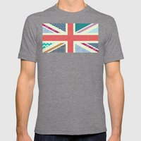 UK Beauty flag Mens Fitted Tee Tri-Grey SMALL