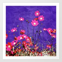 Coquetry floral Art Print