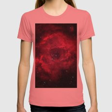 ROSETTA - NEBULA. Womens Fitted Tee Pomegranate SMALL
