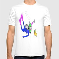 underneath the yellow submarine Mens Fitted Tee White SMALL