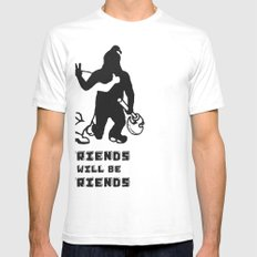 FRIENDS Mens Fitted Tee SMALL White