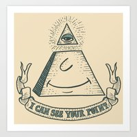 Eye of Compliance Art Print