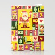 Christmas Geometric Patt… Stationery Cards
