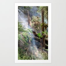 Lightning Fire in the Forest Art Print