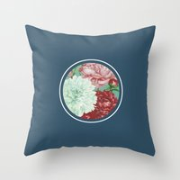 Floribus Orbis Throw Pillow