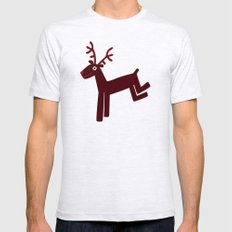 Reindeer-Red Mens Fitted Tee Ash Grey SMALL