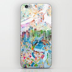Boston City Skyline Map iPhone & iPod Skin
