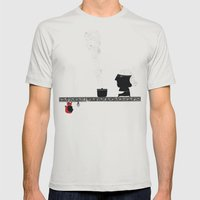 Little Red grandmother Mens Fitted Tee Silver SMALL