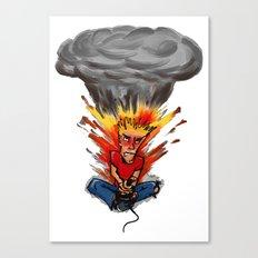 Intense Gamer Canvas Print