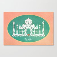 Taj Mahal Is Love Canvas Print