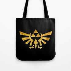 Zelda Golden Hylian Crest Tote Bag