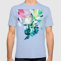 Blue Sky Thinking (Break… Mens Fitted Tee Tri-Blue SMALL