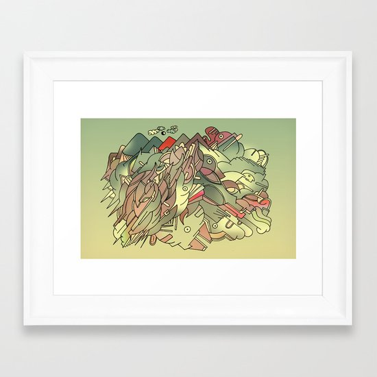 The hills are alive with the sound of Music. Framed Art Print