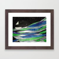 All At Sea  Framed Art Print