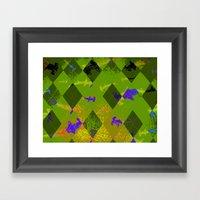 Argyle Frenzy In Zircon Framed Art Print
