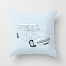 Weasley's Flying Ford Anglia Throw Pillow