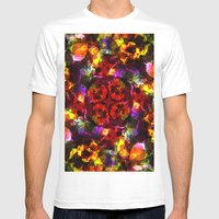 Flower Kaleidoscope  Mens Fitted Tee White SMALL