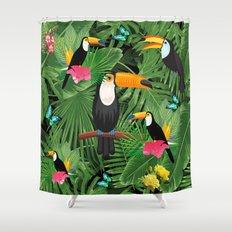Toucan tropic  Shower Curtain