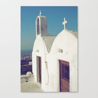 Santorini Churches II Canvas Print