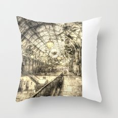Covent Garden London Vintage Throw Pillow