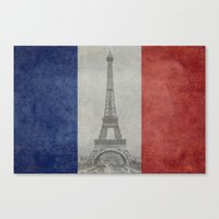 Distressed National Flag… Canvas Print