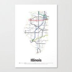 Highways of the USA – Illinois Canvas Print
