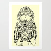 A Wise Old Owl Sat On An… Art Print