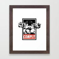 OBEY ED-209 Framed Art Print