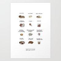 Foods of Ron Swanson Art Print