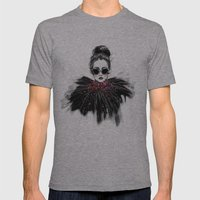 Lua // Fashion Illustration Mens Fitted Tee Athletic Grey SMALL