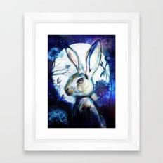 Moonlight Rabbit Framed Art Print