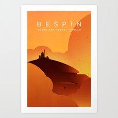 Outer Rim Travel Bureau: Bespin Art Print
