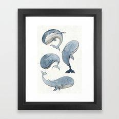 Dancing Whales Framed Art Print