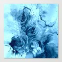 roses underwater Canvas Print
