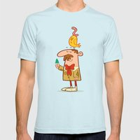 Somethin' About Nature Mens Fitted Tee Light Blue SMALL