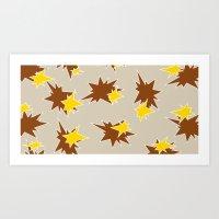 Stars (Brown & Gold On S… Art Print